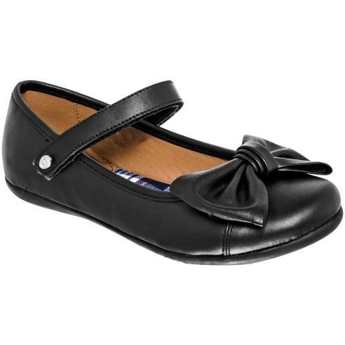 Zapato Escolar Mujer Negro Coqueta 78906 Pv19 Envió Gratis