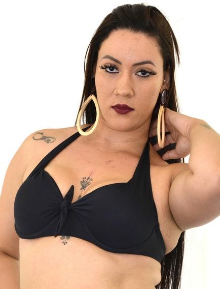 Biquini Sutia Avulso Com Bojo Plus Size Estampado - 46 Ao 56