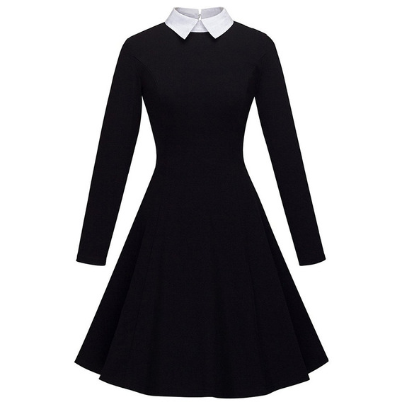 Kenancy Mujeres Peter Pan Collar Fit Y Llamarada Vestido