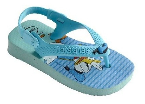 Chinelo Infantil Havaianas Pato Donald Azul Sem Frete 005375