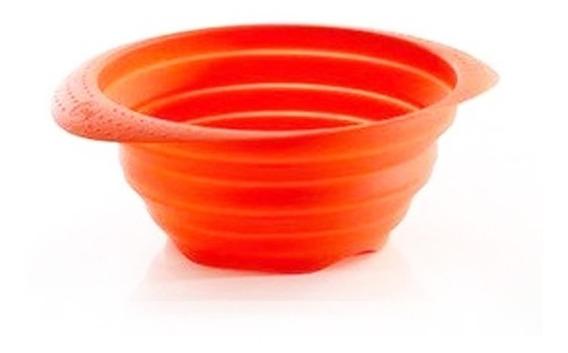 Colador Plegable De Silicona Color Rojo - Essen