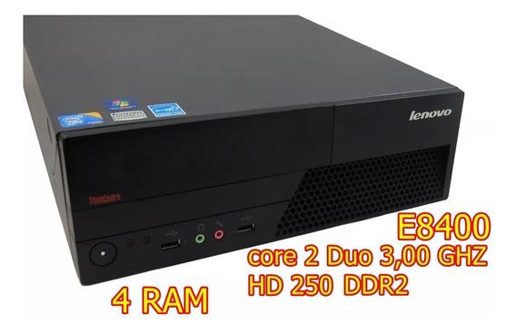Cpu Lenovo Core 2 Duo 3,00 Ghz E8400, 4 Ram Ddr2, Hd 300gb