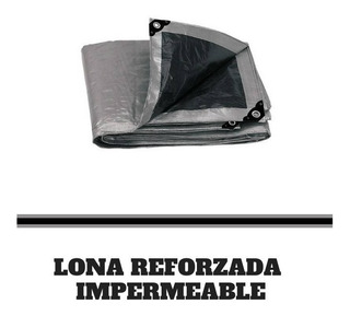 Lona Gris Reforzada Impermeable Lion Tools 3mts X 5mts 8404
