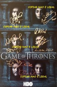 Poster Game Of Thrones Autografado
