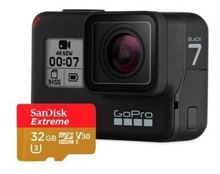 Gopro Hero 7 Black 4k Incluye Sd 32gb Extreme 1 Año Garantia