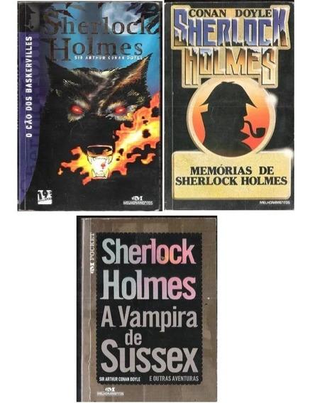 3 Arthur Conan Doyle - Memórias + Vampira De Sussex + O Cão