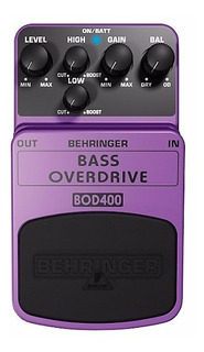 Behringer Bod400 Pedal Para Bajo Bass Overdrive