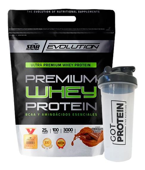 Premium Whey Protein Star Nutrition 3 Kg + Vaso Mezclador