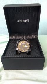 Relogio Magnum, Com Pulcera De Coro