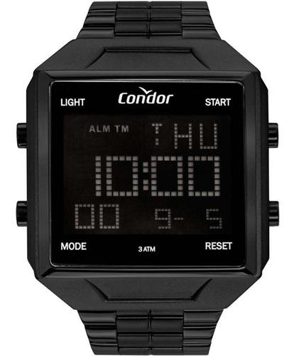 Relógio Condor Masculino Quadrado Digital Pret Cobj2649ad/4p