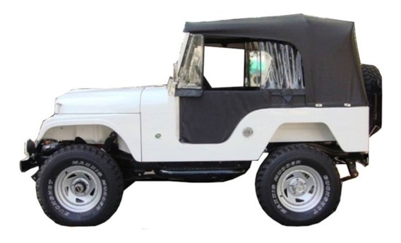 Capota Pissoletro Jeep Willys Conversível Preta Completa Cj5