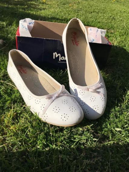 Zapatos Balerina Para Comunión Nº39