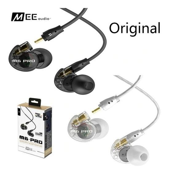 Fone In Ear Mee Audio M6 Pro Segunda Geração Original Transparente Ou Preto !!!