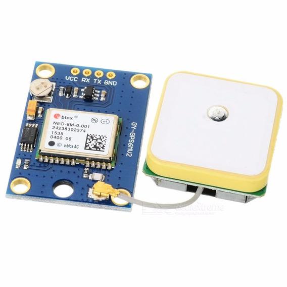 Módulo Gps Serial Rs232 Ttl Gy-neo6mv2 +antena - Arduino