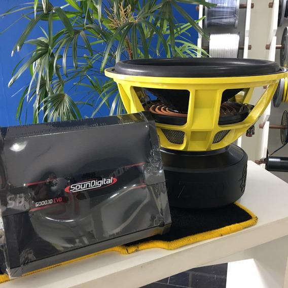 Subwoofer Gzpw 15 Limited 5000w Rms + Soundigital Evo 5000