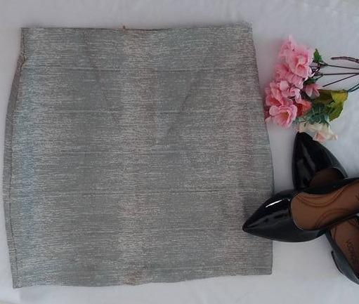 Mini Saia Bandage -com Elastano Tam: M - Prata
