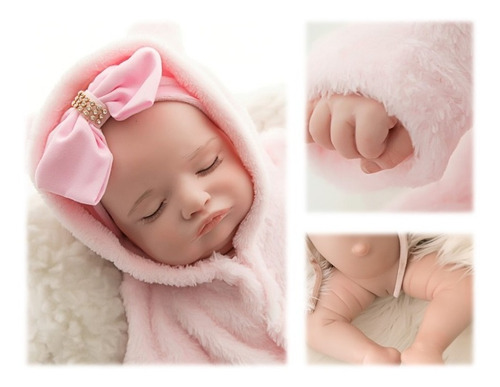 Imagem 1 de 5 de Bebê Reborn Original 100% Silicone Menina Olga Recém Nascida