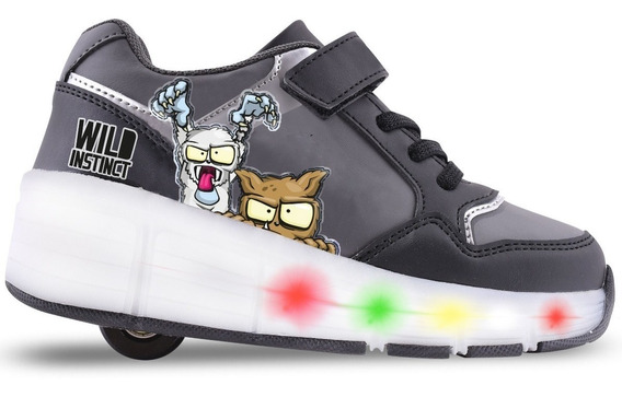 Zapatilla Footy Zombies Infection Led Recargable Con Ruedas