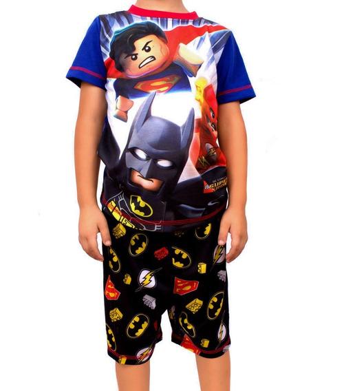 Pijama Lego Para Niños De Super Heroes Batman Y Super Man