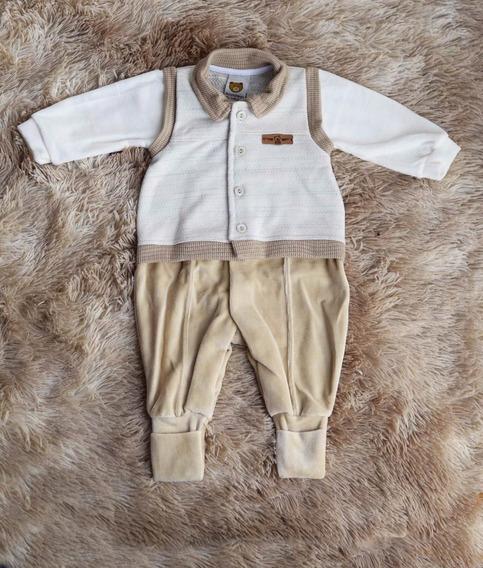 Macacão Longo Para Bebê, Masculino, Pronta Entrega