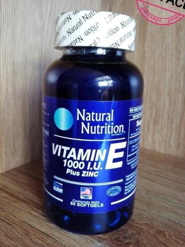Vitamina E 1000 I.u. 60 Cáp. Natural - Unidad a $9