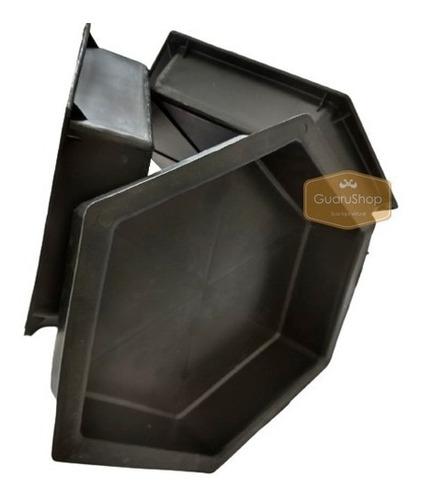3 Formas Pvc Kit Piso Bloquete Sextavada Cimento 6cm Altura