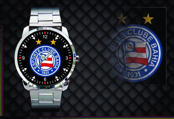 Relógio De Pulso Personalizado Futebol Esporte Clube Bahia