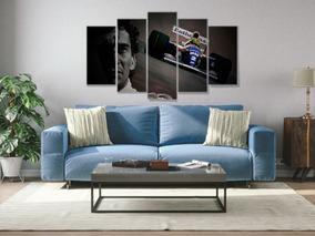 Quadro Mosaico 5 Peças Mdf 6mm Lembranças Ayrton Senna