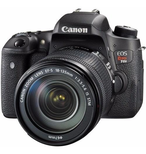 Câmera Canon Eos Rebel T6s Dslr Lente 18-135mm Stm 24.2 Mp