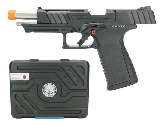 Pistola Airsoft Gbb G&g Gtp 9 Blow Back 6mm + Maleta G&g