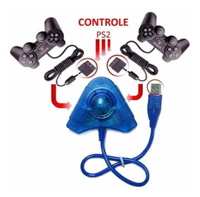 Conversor Usb Duplo P/ Controles Ps2 E Ps1 Ligue No Pc E Ps3