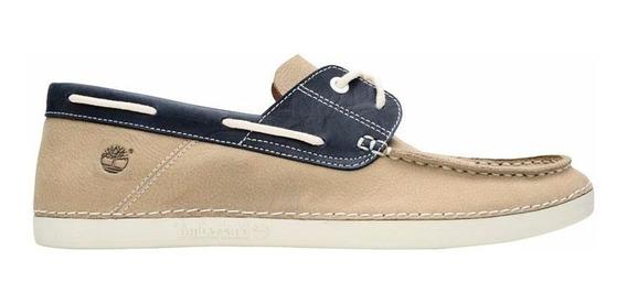 Zapato Hombre Timberland Náutico 2 Eye Boat Claro