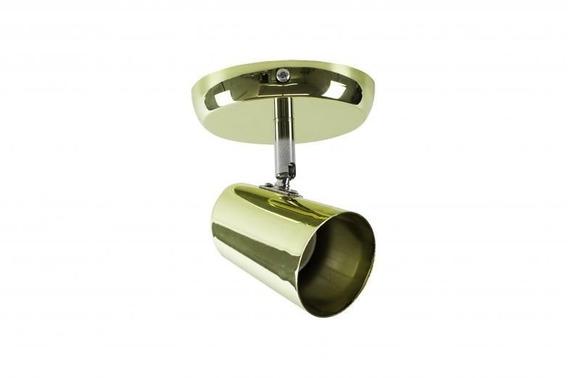 Spot De Sobrepor New Short - 1 Luz E27 60w Crom/dourado