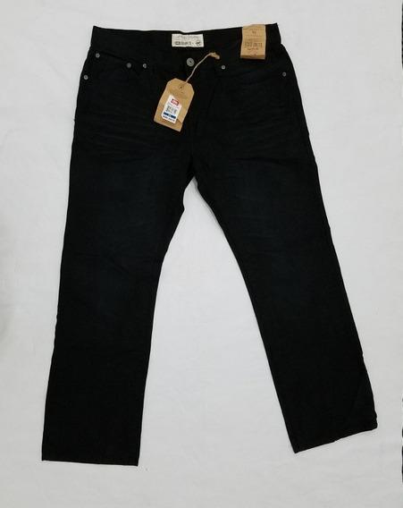 Pantalon Ecko Negro Fit Recto, Hombre, 36 Cintura.