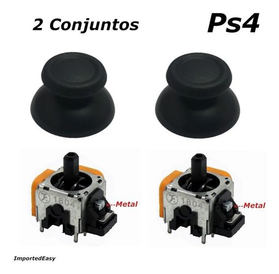 Conjuntos Botões Analógicos E Sensores Para Ps4 X2