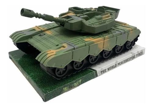Tanque De Guerra Militar Camuflado Con Cañón A Fricción 30cm