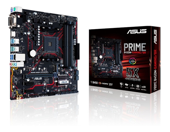 Placa Mãe Asus Prime B450m Gaming (90mb10h0-c1bay0) Am4 Ddr4