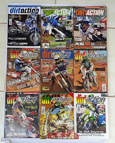 Dirtaction Motocross Enduro Trial C/ 9 Revista Frete Grátis