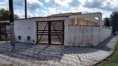 Casa Nova No Balneário Gaivota   Itanhaém Litoral - 4240 Npc
