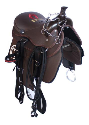Sela Para Cavalo Americana Barata Completa + Manta Brindes