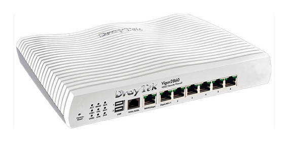 Router 2 Wan Draytek Balancea 2860 Qos Vpn Vdsl2 6 Lan 4g