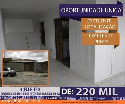 Casa Para Venda Em João Pessoa, Cristo Redentor, 3 Dormitórios, 1 Suíte, 1 Banheiro, 3 Vagas - 7455