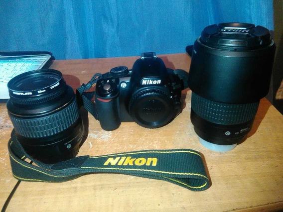 Nikon D3100 Lente 18-55mm Y Lente 70-300mm