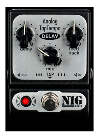 Pedal Nig Padt Pocket Analog Delay Taptempo / Novo /original