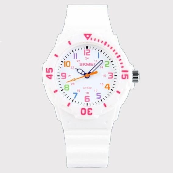Relógio Infantil Skmei Analógico 1043 Branco
