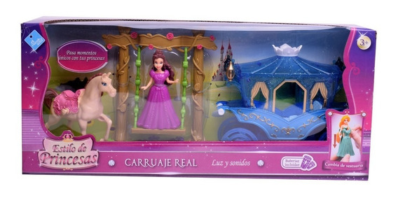 Carruaje Y Princesa Con Luz Y Sonido Simil Princesas Disney