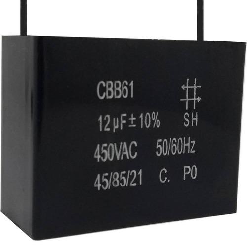 Imagem 1 de 1 de 2 Unids Capacitor Partida 12uf /450vac Fio Cbb61 40/85/21