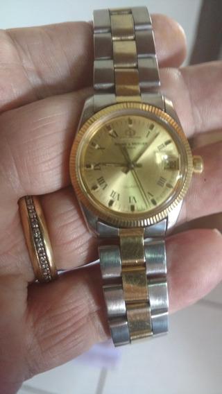 Relógio Baume Mercier Aço E Ouro 18 K Modelo Rolex 30 Mmm