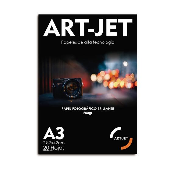 Papel Fotografico Glossy Brillo Art-jet® A3 200g X100 Hojas