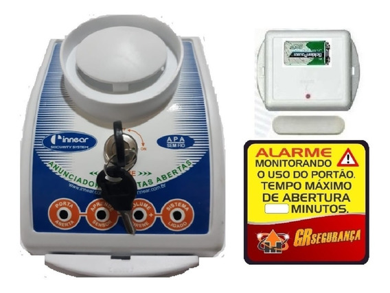 Anunciador Porta Aberta Sem Fio + Sensor Vc Mesmo Instala